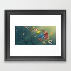 Colour fish  Framed Art Print