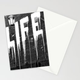 Life- Love of Life street graffiti mosaic inspirational black and white photograph / photography  Stationery Cards