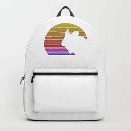 Retro Style T Shirt Silhouette Vintage Chinchilla Backpack