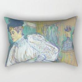 "Henri de Toulouse-Lautrec ""Jane Avril Dancing"" Rectangular Pillow"