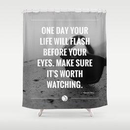 Flash. Shower Curtain