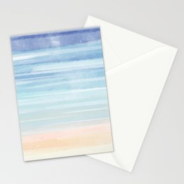 Watercolor Neck Gaiter Watercolor Blues Neck Gator Stationery Cards