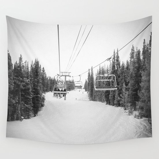 """Ski Lift"" Deep Snow Season Pass Dreams Snowy Winter Mountains Landscape Photography by nononsense"