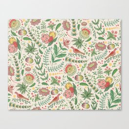 Swedish Floral - Cream Canvas Print