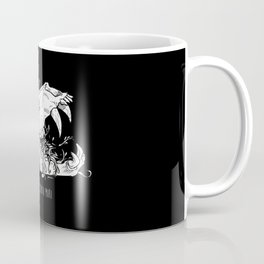 Memento Mori in Black Coffee Mug