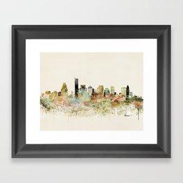 Boston Massachusetts skyline Framed Art Print