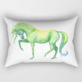Emerald Horse Rectangular Pillow