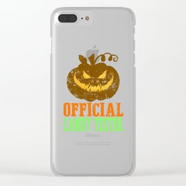 Spooky Official Candy Tester Pumpkin Gifts Halloween  Clear iPhone Case