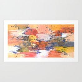 paisaje abstracto Art Print
