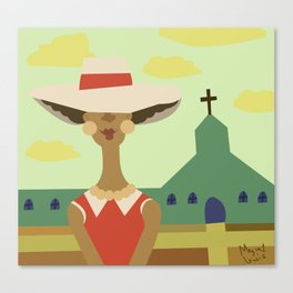 Church Lady Canvas Print