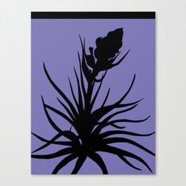 Tillandsia in Chocolate Brown - Original Floral Botanical Papercut Design Canvas Print