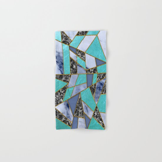 Abstract #457 Marble Shards Hand & Bath Towel