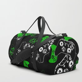 Video Game Black & Green Duffle Bag