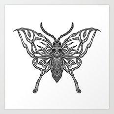 Skeleton Moth Art Print