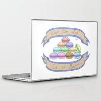 macaron Laptop & iPad Skins featuring Keep Calm Macaron by BeeVee