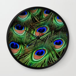 Peacock feathers | Plumes de Paon Wall Clock