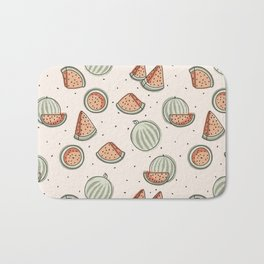 Watermelon Seamless Pattern Bath Mat