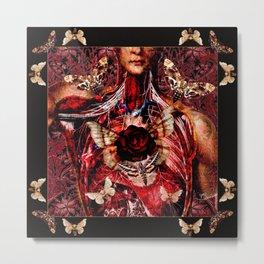 Fluttering Heart Metal Print