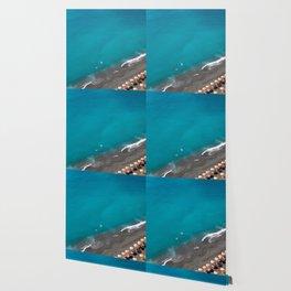 Positano Beach Umbrellas Wallpaper