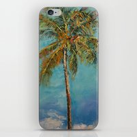 palm tree iPhone & iPod Skins featuring Palm Tree by Michael Creese