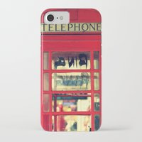 telephone iPhone & iPod Cases featuring Telephone by Irène Sneddon