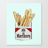 fries Canvas Prints featuring Fries by Sara Eshak