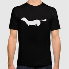 White Stoat Mens Fitted Tee Black SMALL