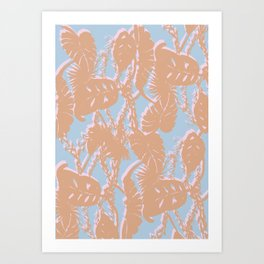 Contrast Palms Art Print