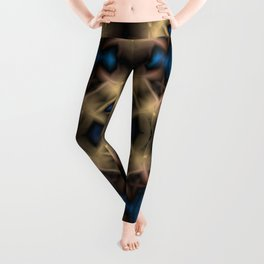 Abstract pattern. Black blue yellow background. Leggings