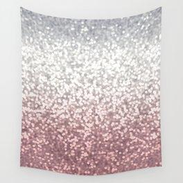 BLUSH ADN SILVER GLITTER OMBRE Wall Tapestry