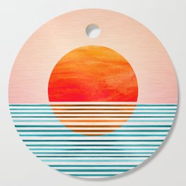 Minimalist Sunset III Cutting Board