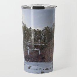 Northern Minnesota Frozen Quarry Landscape Travel Mug