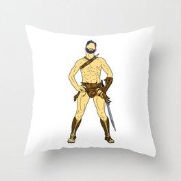 Gladiator Warrior 2 Throw Pillow