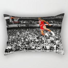 Infamous Jumpman Free Throw Line Dunk Poster Wall Art, Michael Jor-dan Poster Rectangular Pillow