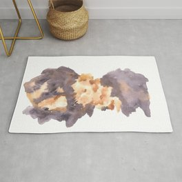 Soft Texture Watercolor | [Grief] Heaviness Rug