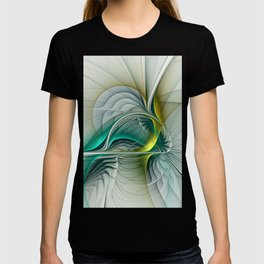 Fractal Evolution, Abstract Art Graphic T-shirt