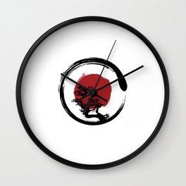 Zen Circle Bonzai Wall Clock