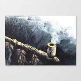 Peace-pipe Canvas Print