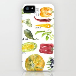 Anna's vegetable market iPhone Case