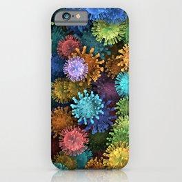 Сolorful viruses iPhone Case