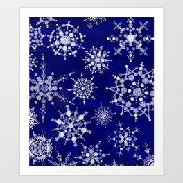Snowflakes Floating through the Sky Art Print