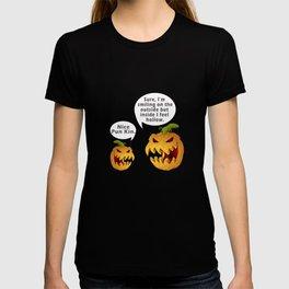 Awesome Hollow Pumpkin Halloween Design T-shirt