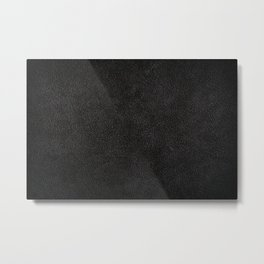 Dark black leather sheet texture abstract Metal Print