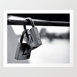 Love Locks 2012 26 Art Print