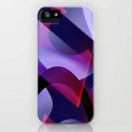 Pattern purple, pink, white iPhone Case