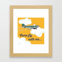 Come fly with me... Framed Art Print