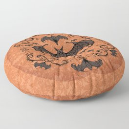 Bats and Filigree - Halloween Floor Pillow
