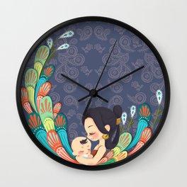 Motherly Love batik Wall Clock