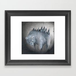 The Bear Who Couldn't Bear Framed Art Print