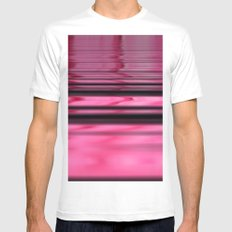 Pink Hobo ~ Abstract White Mens Fitted Tee MEDIUM